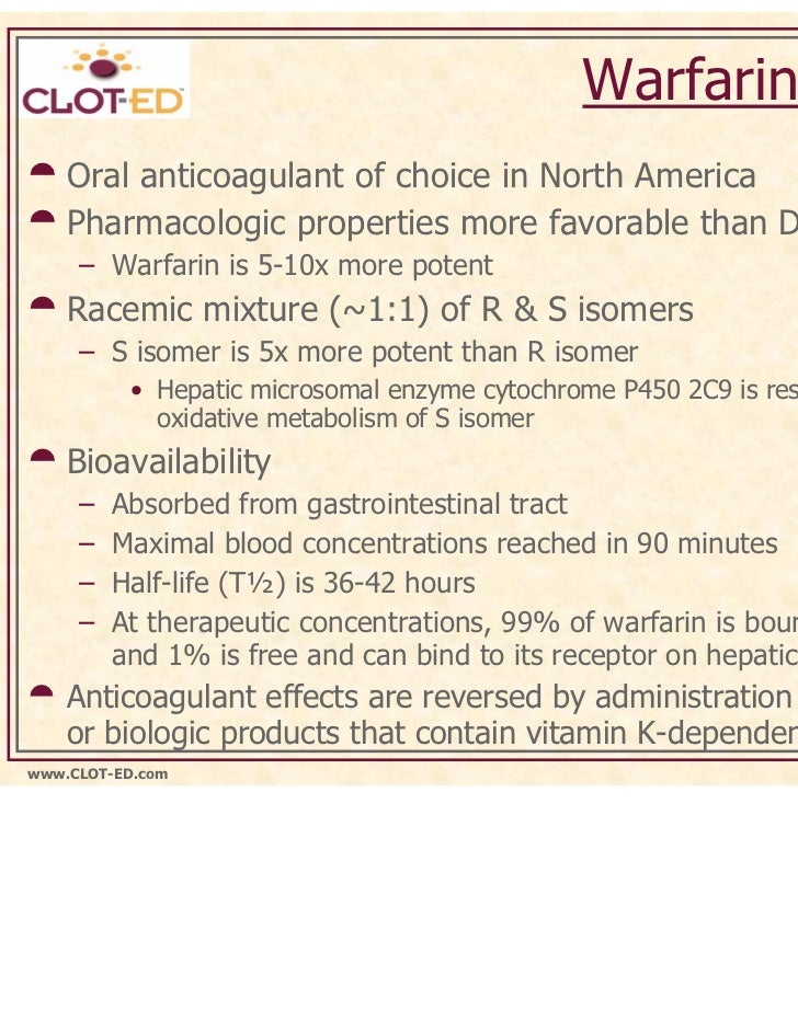 properties of warfarin The main identity and the physical/chemical properties of warfarin are given in appendix i.