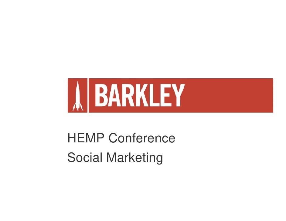 HEMP Conference Social Marketing