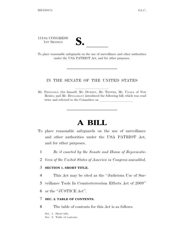 JUSTICE Act of 2009
