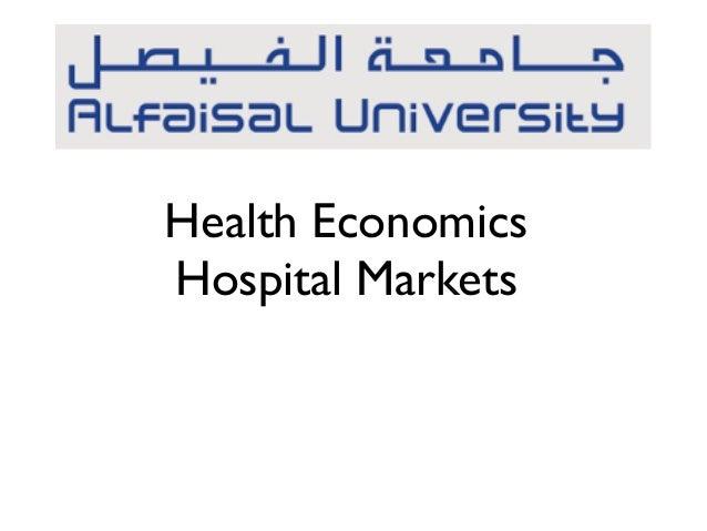 Health Economics Hospital Markets