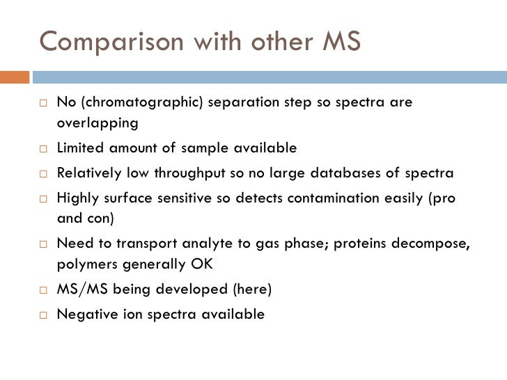 Secondary Ion Mass Spectrometry Slide 3