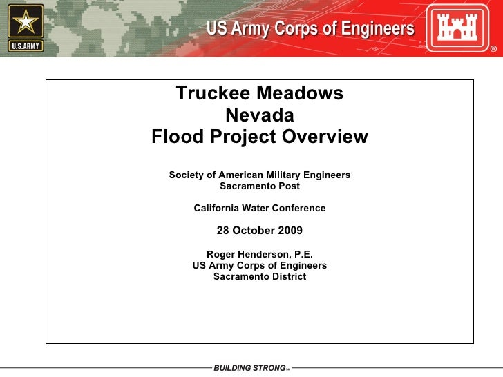 Truckee Meadows Nevada Flood Project Overview Society of American Military Engineers Sacramento Post California Water Conf...