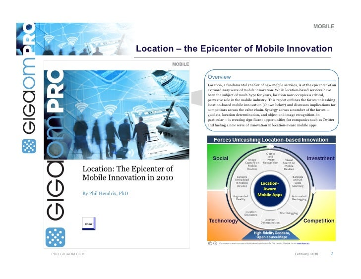 Dr. Phil Hendrix - Location-based Innovation - Overview of Analyst Report Slide 2