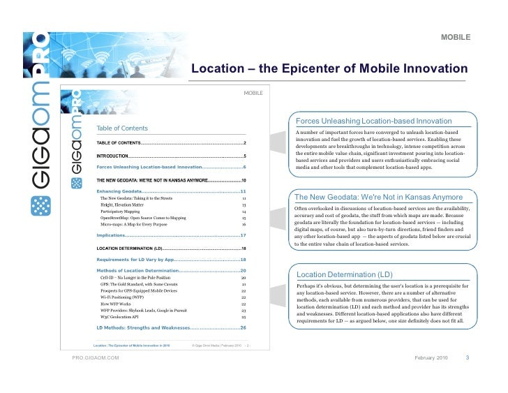 Dr. Phil Hendrix - Location-based Innovation - Overview of Analyst Report Slide 3