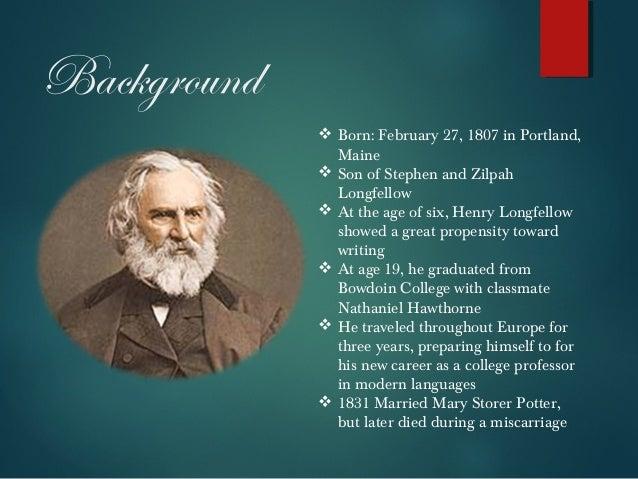 H.W. Longfellow Biography