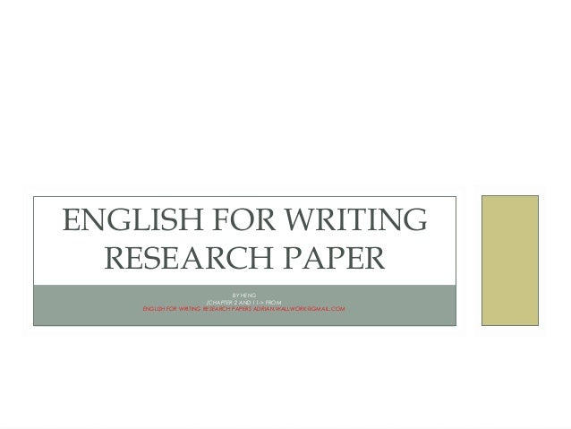 english for writing research papers mobi