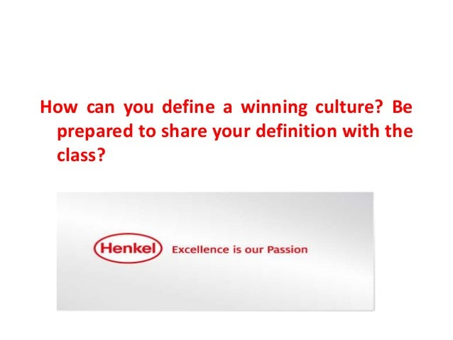 Henkel building a winning culture essay