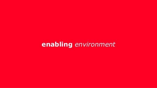 enabling environment & institutional capacity