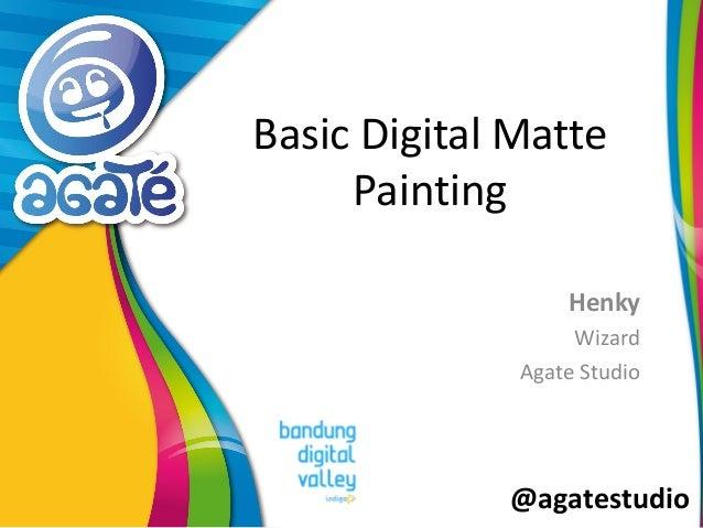 @agatestudio Basic Digital Matte Painting Henky Wizard Agate Studio