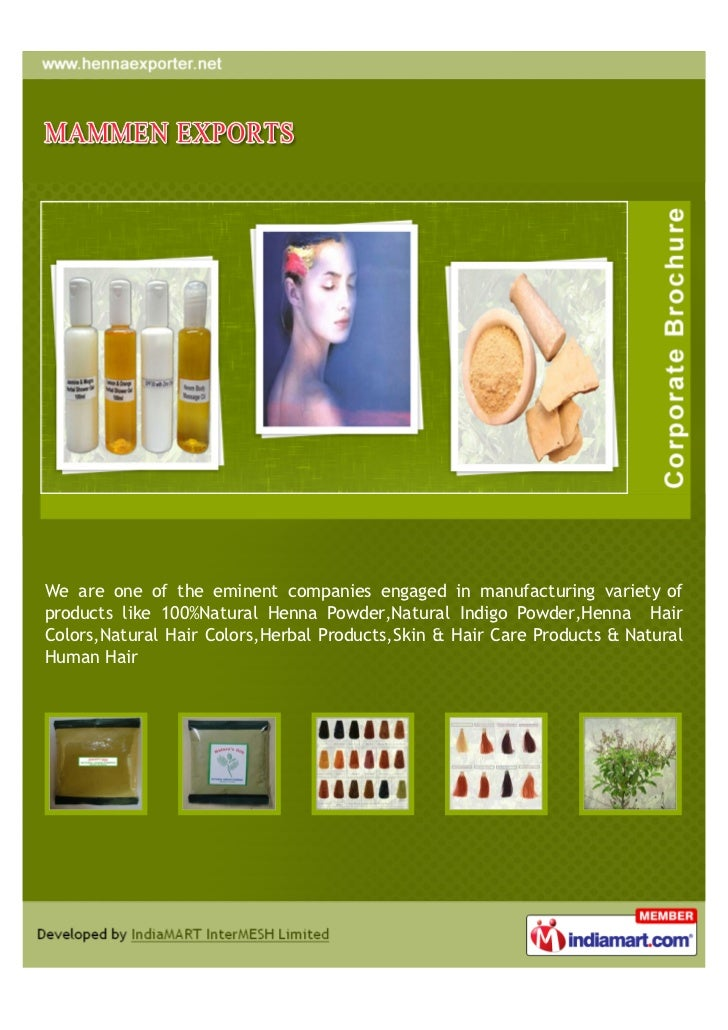 We are one of the eminent companies engaged in manufacturing variety ofproducts like 100%Natural Henna Powder,Natural Indi...