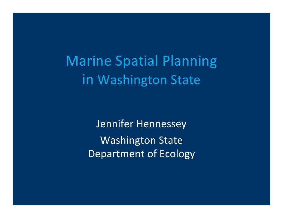 Washington marine spatial planning
