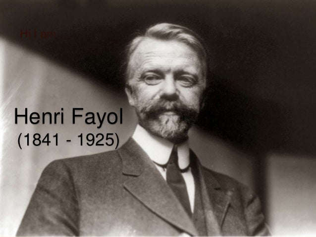 apply henri fayol's five rules of Henri fayol's principles  management principles developed by henri fayol: division of work: work should be divided among individuals and groups to ensure that effort and attention are focused on special portions of the task.