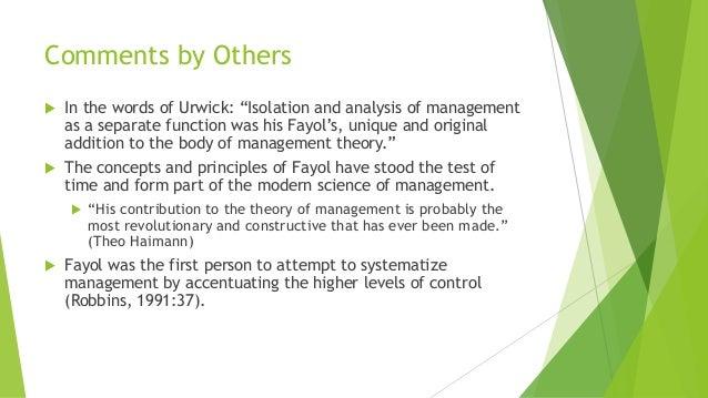 fayol stands the test of time fells 200 هنري فايول henry fayol (ع 1841 اسطنبول - 1925 باريس) هو أحد علماء الإدارة الكلاسيكية، فرنسي، عمل مديراً تنفيذياً لشركة صناعية صغيرة في فرنسا، ومن خلالها نال خبرته العملية التي قادته إلى النجاح في مجال الإدارة الصناعية، وعمل على .