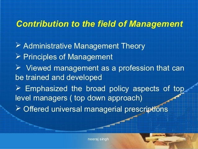 Theory of preparedness