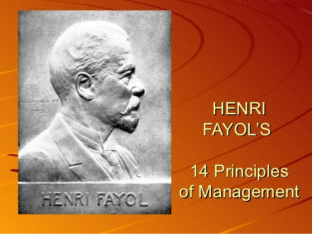 Henri Fayol Contribution to Management