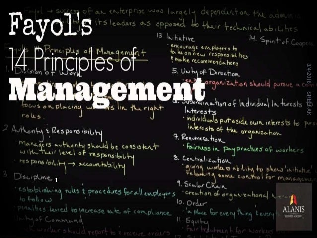 henri fayols 14 principles of management Private schools using henri fayol's principles of management and is based on  the case  19–20) developed 14 general principles of management which.