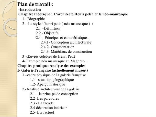 Henri petit for Conception architecturale definition