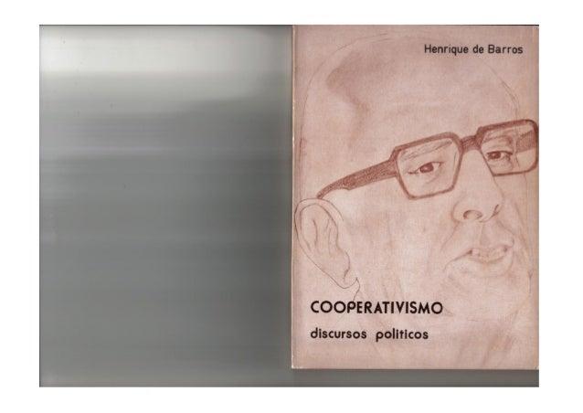 COOPERATIVISMO, Discursos políticos, de Henrique de Barros (1978)