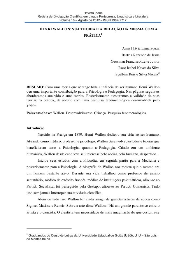 Revista Ícone Revista de Divulgação Científica em Língua Portuguesa, Linguística e Literatura Volume 10 – Agosto de 2012 –...