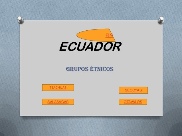 ECUADOR GRUPOS ÉTNICOS TSACHILAS SALASACAS SECOYAS OTAVALOS FIN