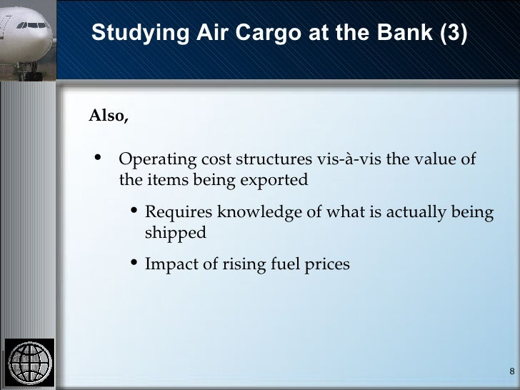 Air Freight - A World Bank Perspective