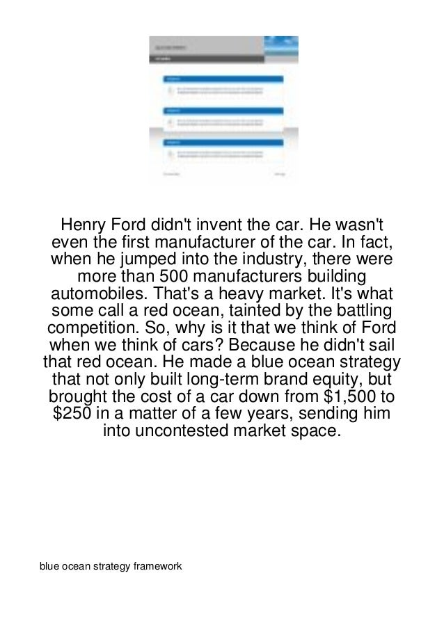 Henry Ford didnt invent the car. He wasnt even the first manufacturer of the car. In fact, when he jumped into the industr...