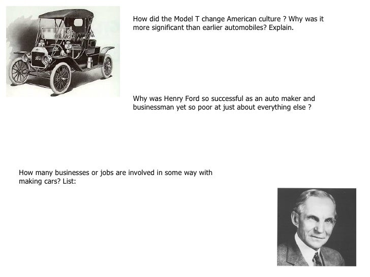 an analysis of how henry ford developed the model t Henry ford was the founder of the ford motors company, had brought a revolution in the automobile industry this biography of henry ford provides detailed information about his the model t was so successful that ford had to greatly expand his production in order to meet the ever-increasing demand.