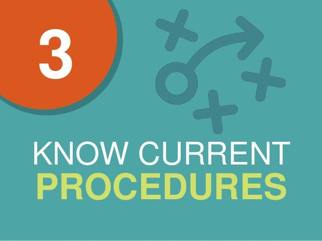 KNOW CURRENT PROCEDURES 3
