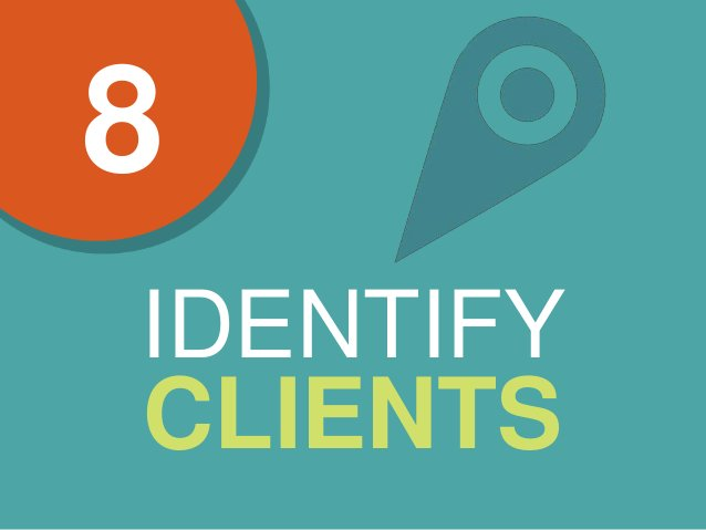 8 IDENTIFY CLIENTS