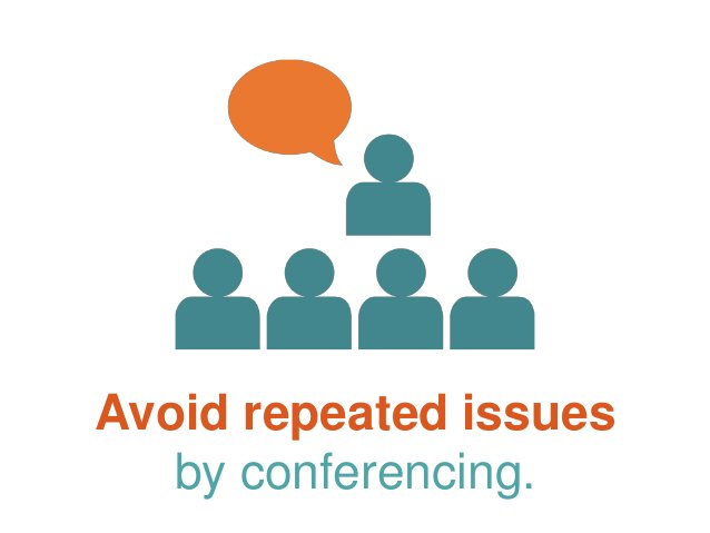 Avoid repeated issues by conferencing.