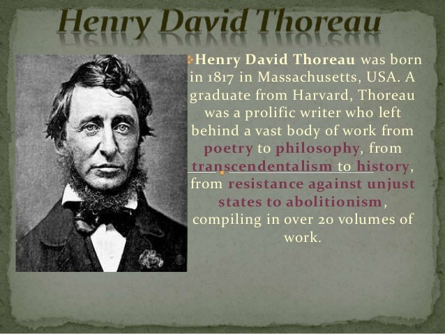 Henry David Thoreaus Life