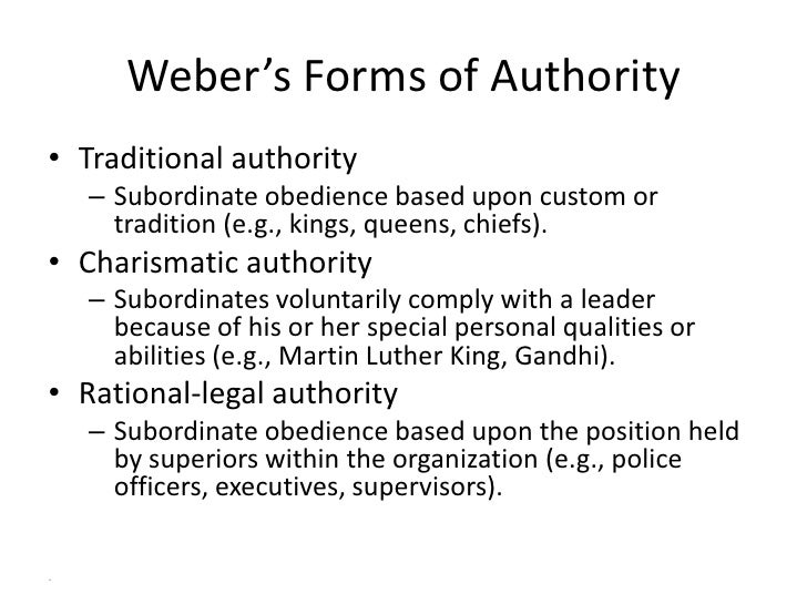 types of authority by max weber