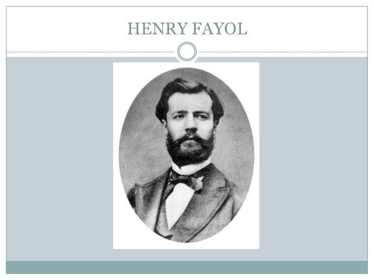 Henry Fayol's Principles Of Management.