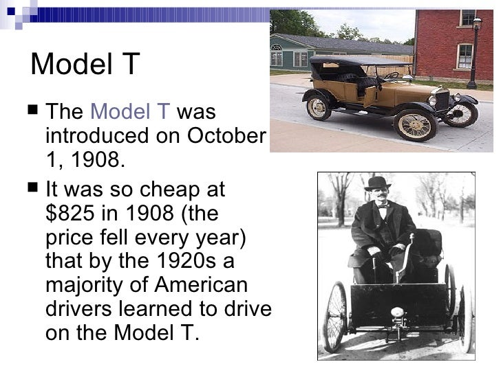 ford model t research paper