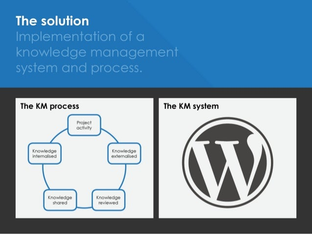 WordPress: Implementation of a knowledge management system to facilit… slideshare - 웹