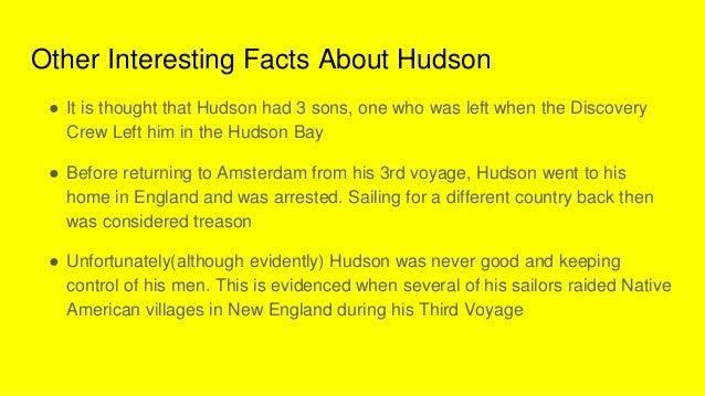 Interesting facts about henry hudson the best fact in 2018 for Fun facts about america