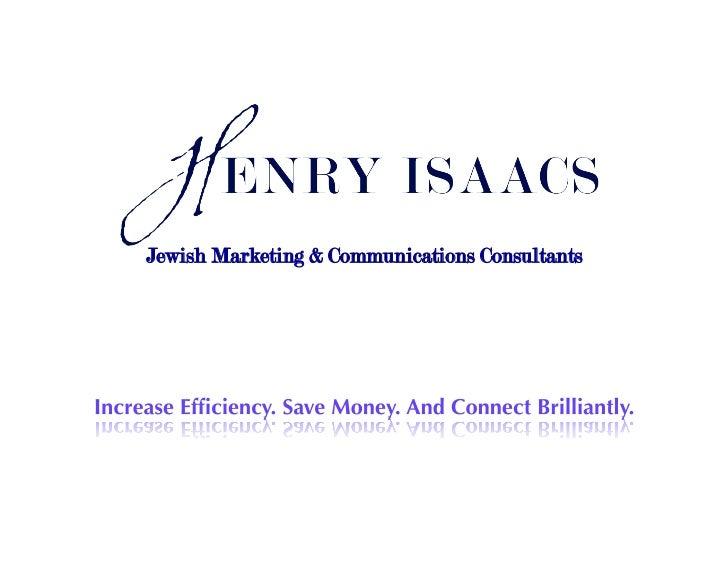 Jewish Marketing & Communications Consultants