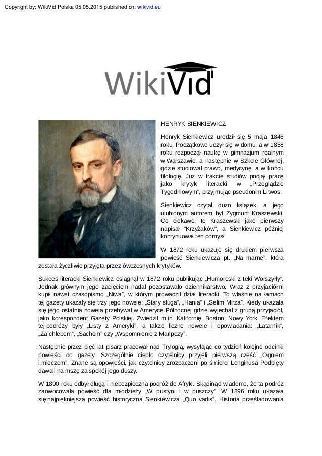 Henryk Sienkiewicz Biografia