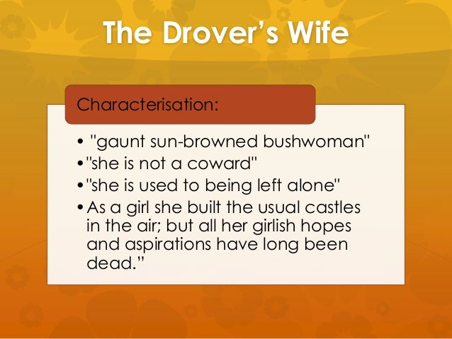 henry lawson the drovers wife