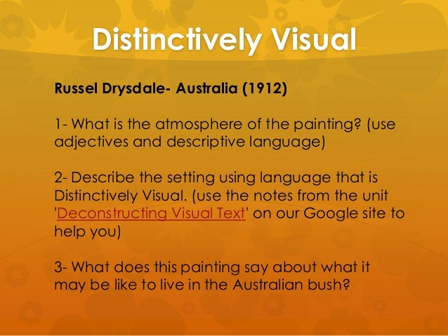 Distinctively visual thesis statement