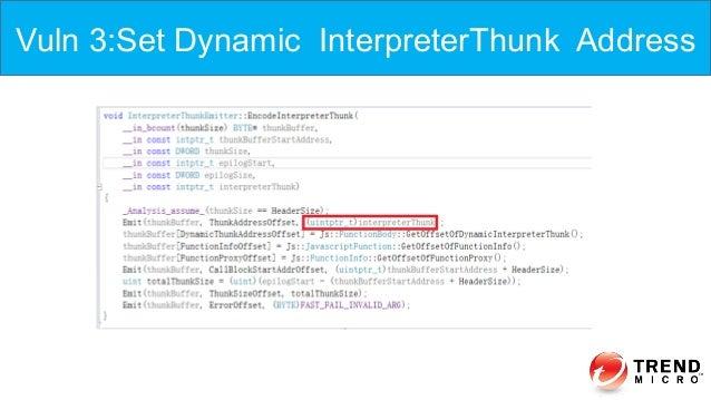 Vuln 3:Set Dynamic InterpreterThunk Address