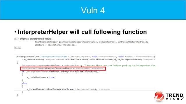 Vuln 4 •InterpreterHelper will call following function Vuln 4