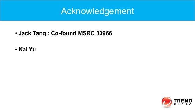 • Jack Tang : Co-found MSRC 33966 • Kai Yu Acknowledgement