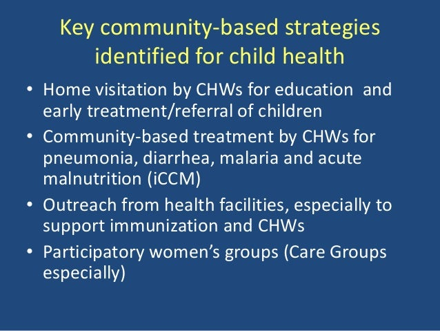 Maternal and Child Health