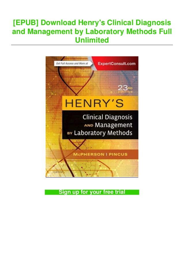 [EPUB] Download Henry's Clinical Diagnosis and Management by Laboratory Methods Full Unlimited Sign up for your free trial