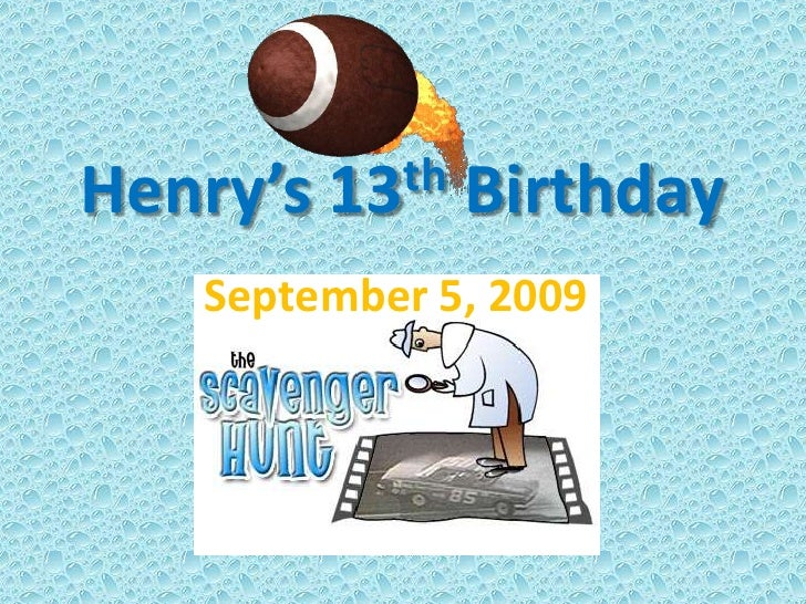 Henry's 13th Birthday<br />September 5, 2009 <br />