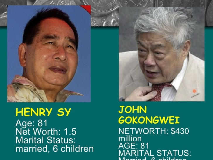 the henry sy story Success story of john gokongwei we need blood and sweat and hard work to make the philippine economy compete globally, for ou success story of lucio tan success story of henry sy sr.
