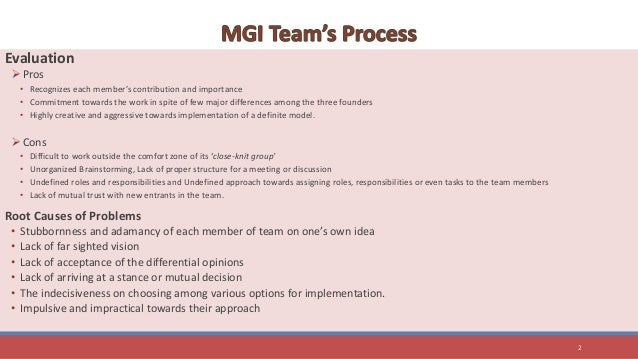 henry tam and mgi team process Henry tam and the mgi team case solution, within a short time frame, assemble seven different team members have a business plan for a new company and the struggle to define their roles, make decisi.