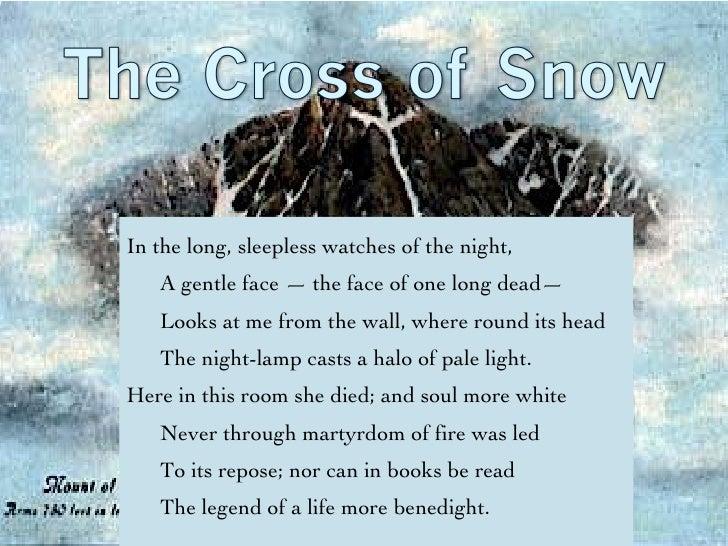 the cross of snow longfellow analysis