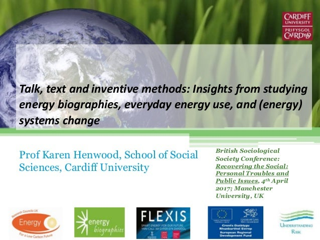 Talk, text and inventive methods: Insights from studying energy biographies, everyday energy use, and (energy) systems cha...